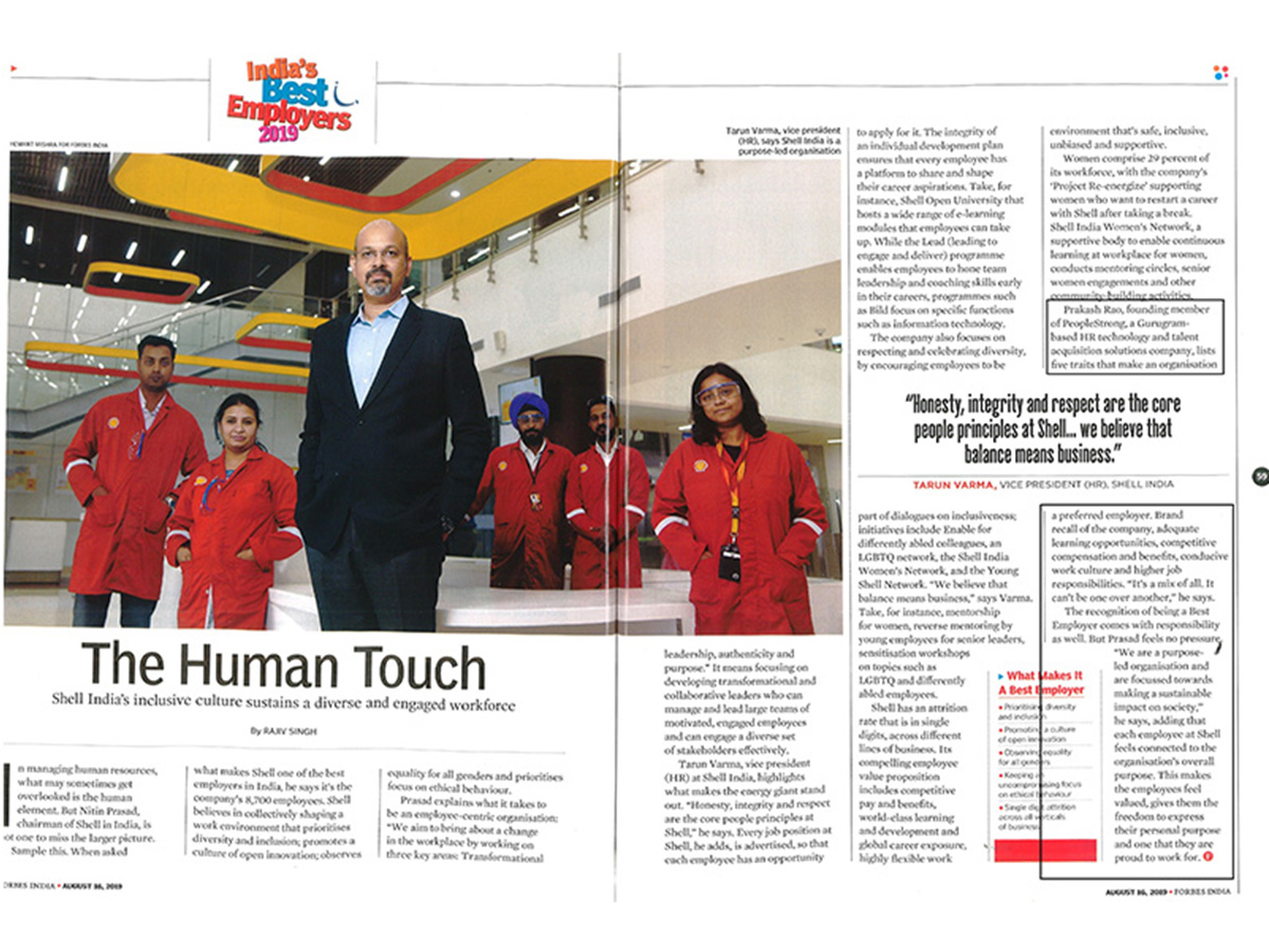 The Human Touch by Rajiv Singh appeared in Forbes ...