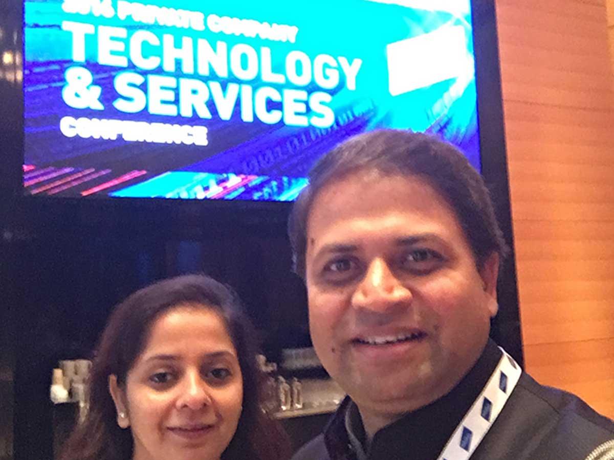 Pankaj Bansal & Shelly Singh at Baird's pri...