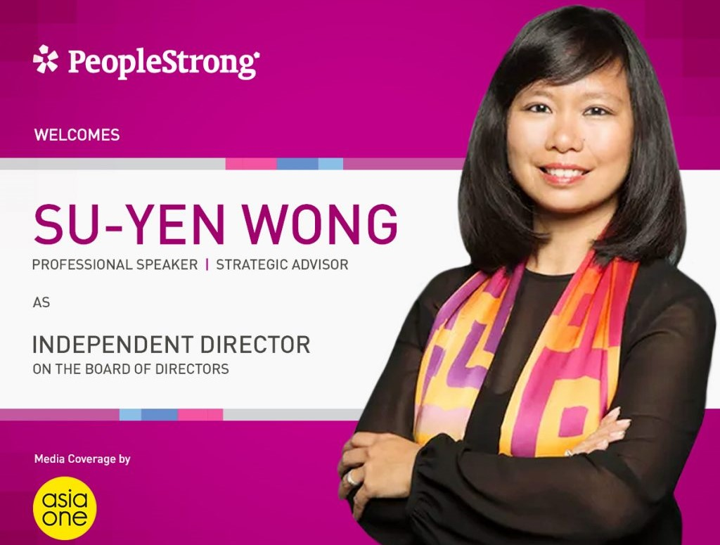 Su-Yen Wong joins PeopleStrong Board